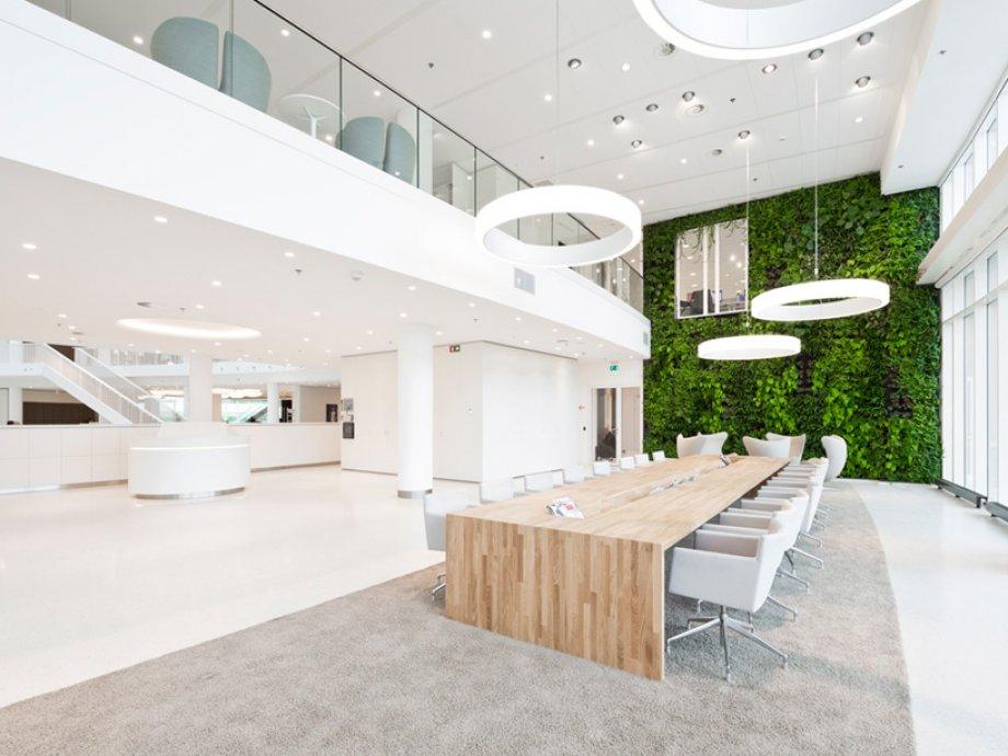 Verticale Tuin Binnen : Irrigatiesysteem verticale tuin kantoor eneco hb watertechnologie